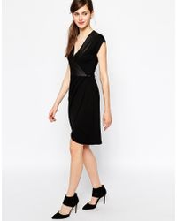 French connection Tabitha Tux Dress in Jersey - Lyst