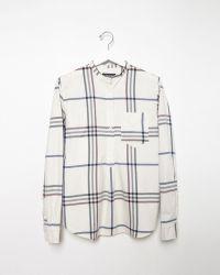 Isabel Marant Travy Check Shirt white - Lyst