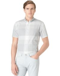 Calvin Klein Modern Fit Exploded Plaid Sport Shirt - Lyst