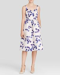 Cynthia Steffe Dress - Katrina Sweetheart Neck Floral Print Midi - Lyst