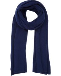 Barneys New York Cashmere Knit Scarf - Lyst