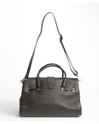 Jimmy Choo Black Studded Leather 'Rosalie' Convertible Satchel - Lyst