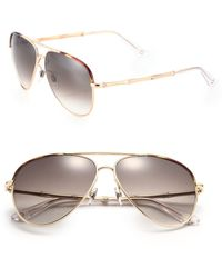 Gucci | Bamboo 59mm Aviator Sunglasses | Lyst