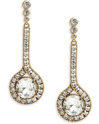 Oscar de la Renta Jeweled Drop Earrings Jeweled Drop Earrings - Lyst