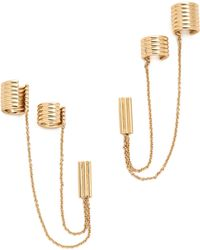 Rachel Zoe - Double Ear Cuff Earrings - Gold - Lyst