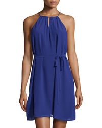 Catherine Catherine Malandrino Abbey Keyhole Belted Dress - Lyst