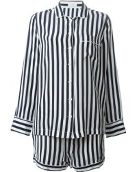 Equipment Striped Pajama Shirt And Shorts Set - Lyst