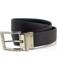 English Laundry - Reversible Pebbled Leather Dress Belt - Compare At $49.50 - Lyst