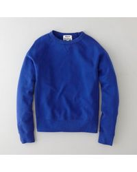 Acne College Klein Blue Sweatshirt - Lyst
