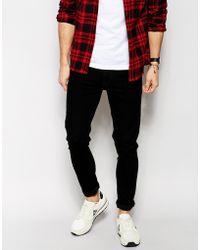 Asos Super Skinny Jeans In Black - Lyst