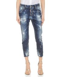 DSquared² Cool Girl Cropped Jeans - Blue - Lyst