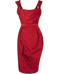 Vivienne Westwood Red Label Bordeaux Faille Corseted Dress - Lyst