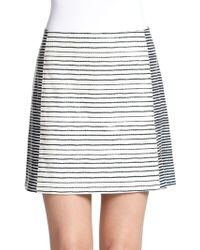 Tory Burch Sorrel Leather Skirt - Lyst