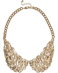 River Island Gold Tone Filigree Collar Necklace - Lyst