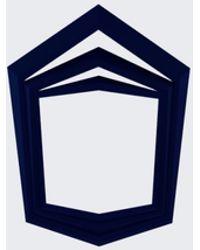 Vojd Studio Navy Stepped Ring blue - Lyst