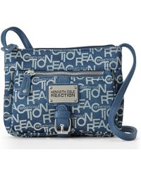Kenneth Cole Reaction Navy Freight Mini Crossbody - Lyst