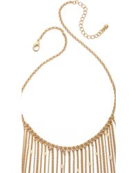 Jules Smith Long Chain Fringe Necklace Gold - Lyst