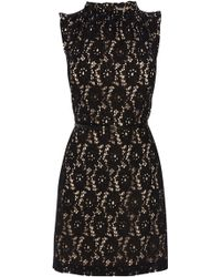 Oasis High Neck Lace Dress - Lyst