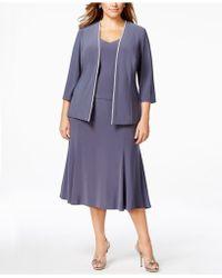 Alex Evenings - Plus Size Rhinestone Dress And Jacket - Lyst