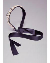 Bebe - Pearl Cluster Headband - Lyst