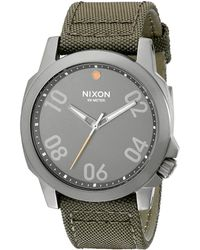 Nixon The Ranger 45 Nylon silver - Lyst