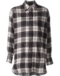 R13 Oversized Checked Wool Shirt - Lyst