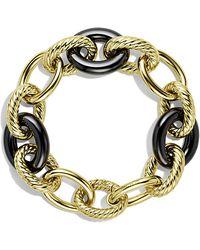 David Yurman Oval Extra-Large Link Bracelet In Gold - Lyst