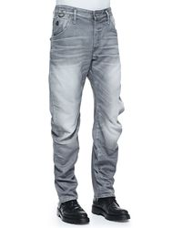 G-star Raw Arc 3d Riley Zip Back-pocket Jeans - Lyst