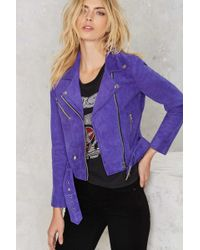 Nasty Gal | Electric Youth Suede Moto Jacket | Lyst