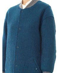 Julien David - Textured-Lurex Silk-Blend Coat - Lyst