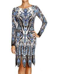 Roberto Cavalli Dress Long Sleeve Jersey Print Penrose - Lyst