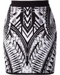Balmain Mini Skirt - Lyst
