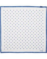 Drake's Polka Dot Pocket Square - Lyst