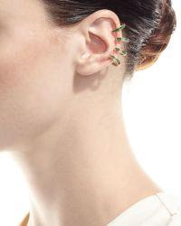 Borgioni - 18k Gold Emerald Baguette Ear Cuff - Lyst