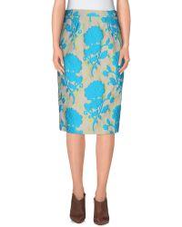 Miu Miu | Knee Length Skirt | Lyst