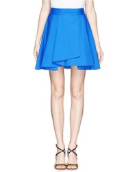 Alice + Olivia 'Molina' Asymmetric Fishtail Pleat Skirt - Lyst