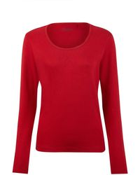 Dash Red Long Sleeve Scoop Neck Top - Lyst
