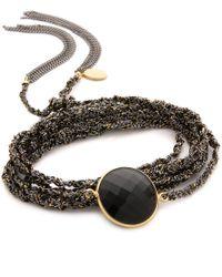 Sogoli - Stone Chain Wrap Bracelet - Silver/gold/lapis - Lyst