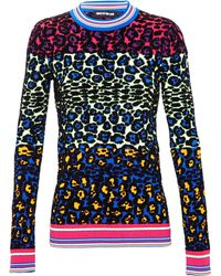 House Of Holland Textured Neon Leopard Print Jumper - Lyst