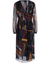 Burberry Prorsum Mid Length Dress - Lyst