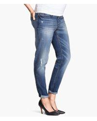 H&M Mama Boyfriend Tapered Jeans - Lyst