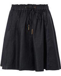 Day Birger Et Mikkelsen Black Mozaik Croc Embossed Leather Skater Skirt - Lyst