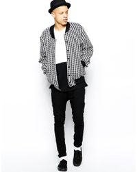 American Apparel - Bomber Jacket In Houndstooth - Lyst