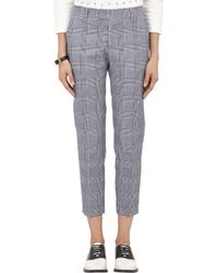 Band of Outsiders Glen Plaid Trousers - Lyst
