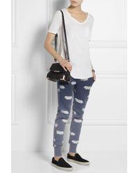 Zoe Karssen Bat Print Cotton Blend Track Pants - Lyst