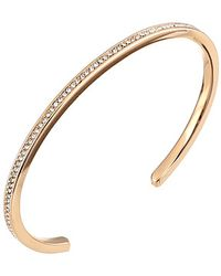 Michael Kors Collection Pave Open Cuff - Lyst