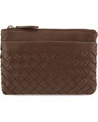 Bottega Veneta Intrecciato Nappa Leather Keyring Pouch - For Women - Lyst