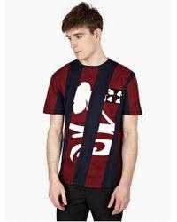 Raf Simons Men'S Striped Cotton T-Shirt - Lyst
