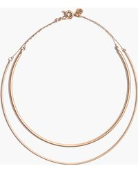 Madewell Double Circlet Choker - Lyst