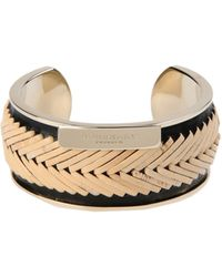 Burberry Gold Bracelet - Lyst